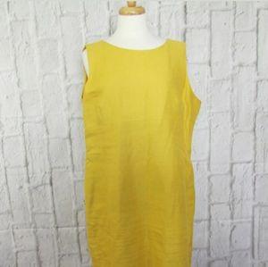 Kasper Linen Blend Sheath Dress 18